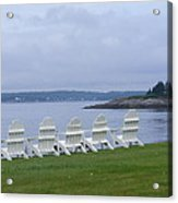 All In A Row In Maine Acrylic Print