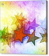 All The Stars Of The Rainbow Acrylic Print