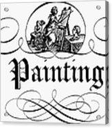 Allegory Of Finance, 1743 Acrylic Print
