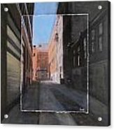 Alley Front Street Layered Acrylic Print