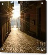 Alley In Backlight  Acrylic Print