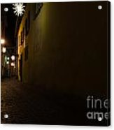 Alley In Night With Lights Acrylic Print