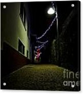 Alley With Lights Acrylic Print