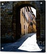 Alley With Sunlight Acrylic Print