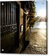 Alley With Sunshine Acrylic Print