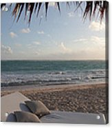 Alluring Tropical Beach Acrylic Print