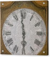 Almost Six O'clock Acrylic Print