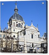 Almudena Cathedral In Madrid Acrylic Print
