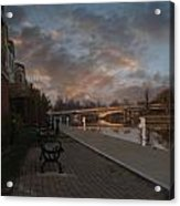 Along The Menasha Riverfront Acrylic Print