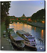 Along The Tiber Acrylic Print by Ed Rooney
