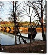 Alongside The Uhlerstown Frenchtown Bridge Acrylic Print