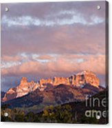 Alpenglow On The Cimarron Mountains - D003083a Acrylic Print