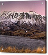 Alpenglow Over The Clyde River Acrylic Print