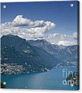 Alpine Lake And Mountains Acrylic Print