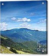 Alpine Panorama In Taiwan Acrylic Print