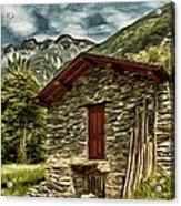Alpine Ruins Acrylic Print