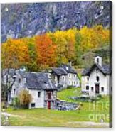 Alpine Village In Autumn Acrylic Print
