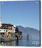 Alpine Village On The Lake Front Acrylic Print