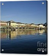 Alpine Village Reflected In The Water Acrylic Print