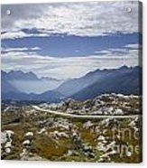 Alps And Road Acrylic Print
