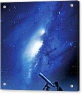 Amateur Astronomy, Computer Artwork Acrylic Print by Detlev Van Ravenswaay
