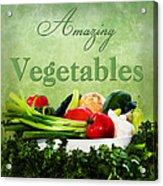Amazing Vegetables Acrylic Print