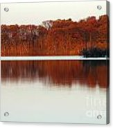 Amber Autumn Lake Acrylic Print
