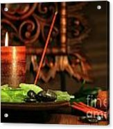 Amber Colored Candles Acrylic Print