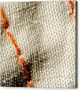 Amber Stitch Study Of Threads Up Close Acrylic Print
