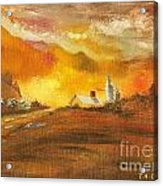 Amber Sunset Acrylic Print