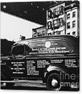 Ambulance, Late 1930s, Nyc Acrylic Print