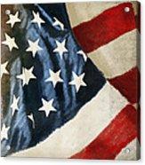 America Flag Acrylic Print