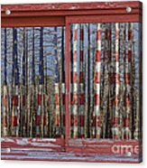 America Still Beautiful Red Picture Window Frame Photo Art View Acrylic Print