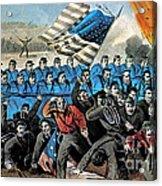 American Civil War, Battle Of Malvern Acrylic Print by Photo Researchers