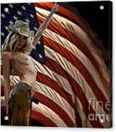 American Cowgirl Acrylic Print