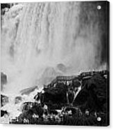 American Falls With Cave Of The Winds Walkway Niagara Falls New York State Usa Acrylic Print