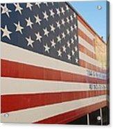 American Flag At Nathan's Acrylic Print