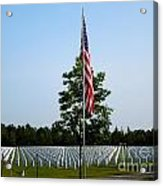American Flag At Soldiers Graves Acrylic Print