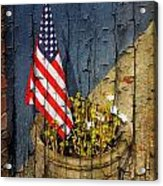 American Flag In Flower Pot - 2 Acrylic Print