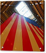 American Flag In Marshall Field's Acrylic Print