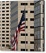 American Flag In The City Acrylic Print