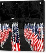 American Flags Acrylic Print