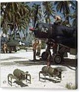American Ground Crews Prepare Marine Acrylic Print by W. Robert Moore