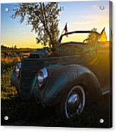 American Hot Rod Sunset Acrylic Print