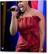 American Idol Jordin Sparks Performs Acrylic Print by Everett