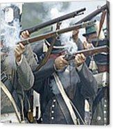 American Infantry Firing Acrylic Print