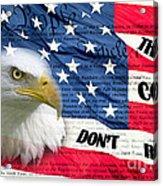 American Pride Acrylic Print by Joanne Kocwin