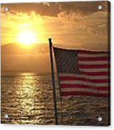 American Sunset Acrylic Print by Lillie Wilde
