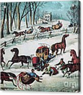 American Winter 1870 Acrylic Print by Photo Researchers