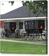 Amish Buggies Parked Acrylic Print